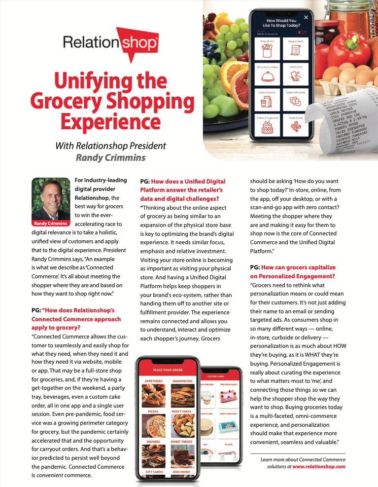 Unifying the Grocery Shopping Experience